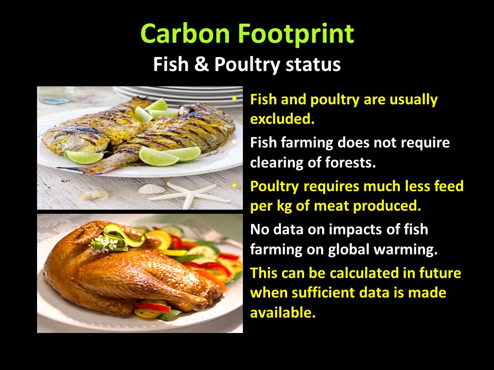 Carbon Footprint Fish & Poultry status