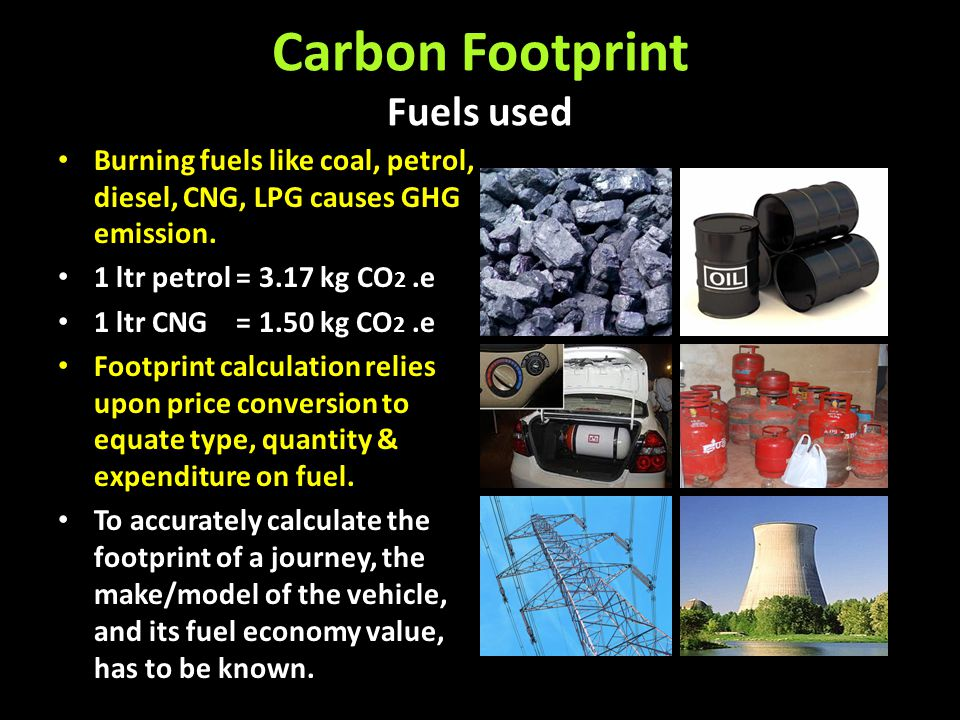 Carbon Footprint Fuels used