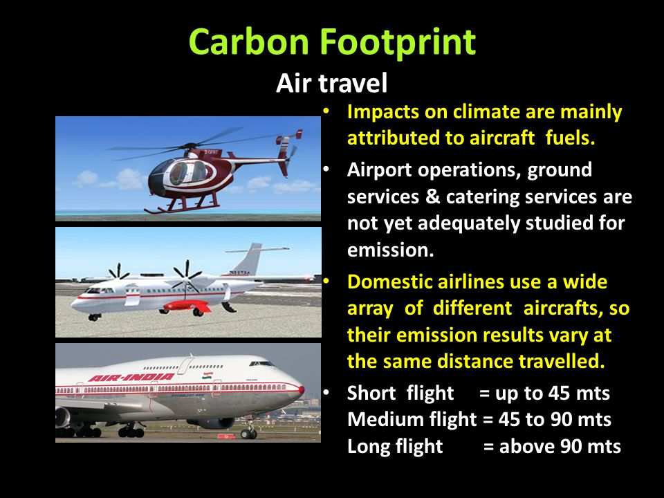 Carbon Footprint Air travel