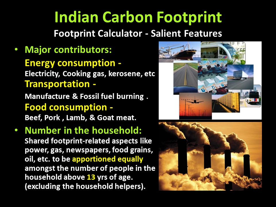 Indian Carbon Footprint Footprint Calculator - Salient Features