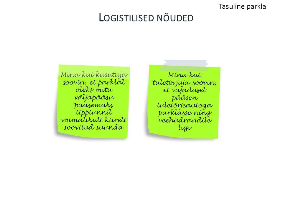 Logistilised nõuded Tasuline parkla