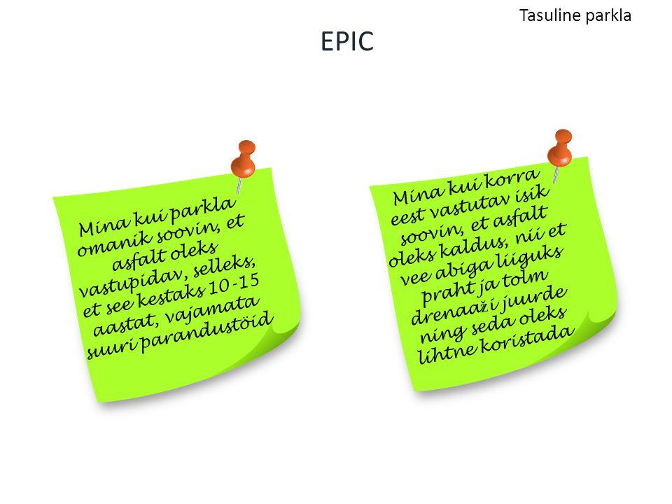Tasuline parkla EPIC.
