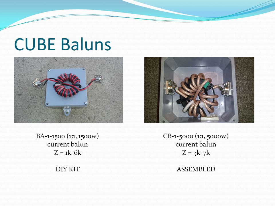 CUBE Baluns BA-1-1500 (1:1, 1500w) current balun Z = 1k-6k DIY KIT