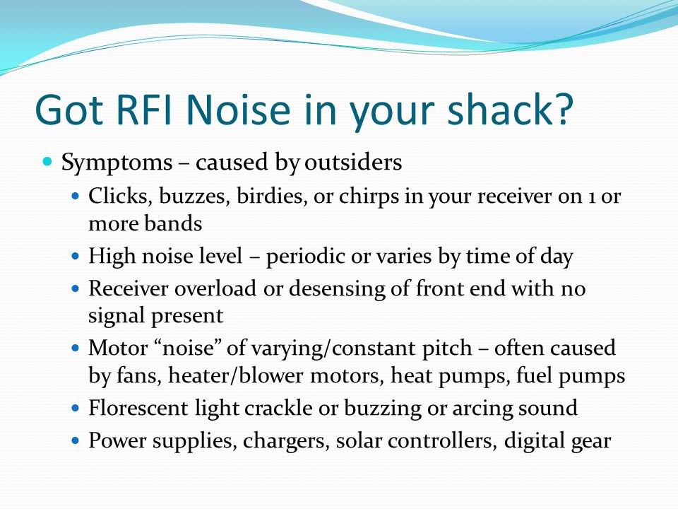 Got RFI Noise in your shack