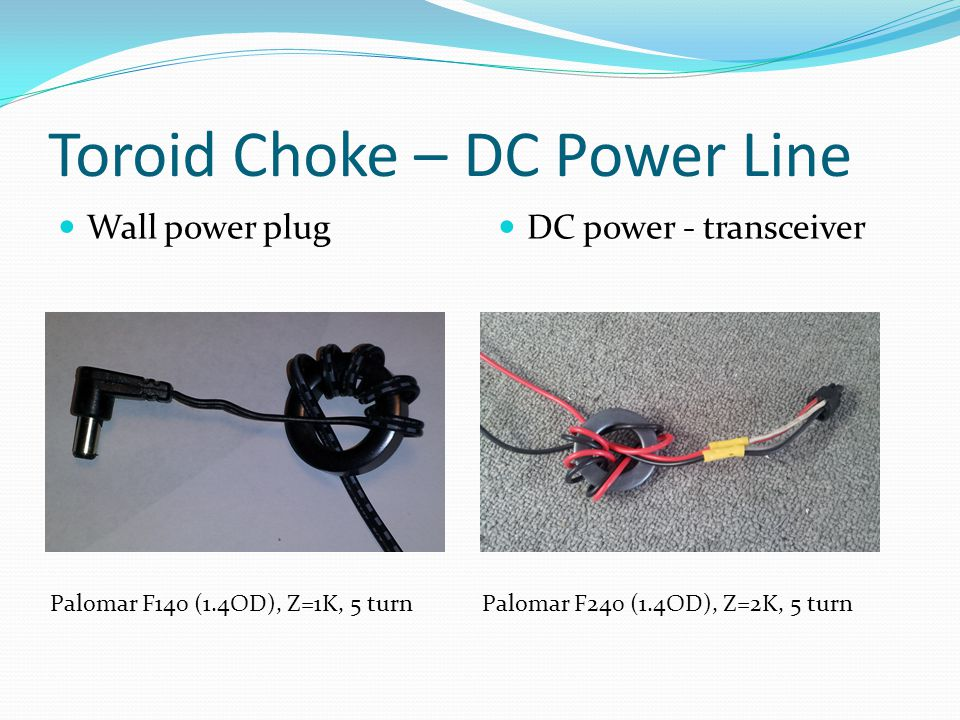 Toroid Choke – DC Power Line
