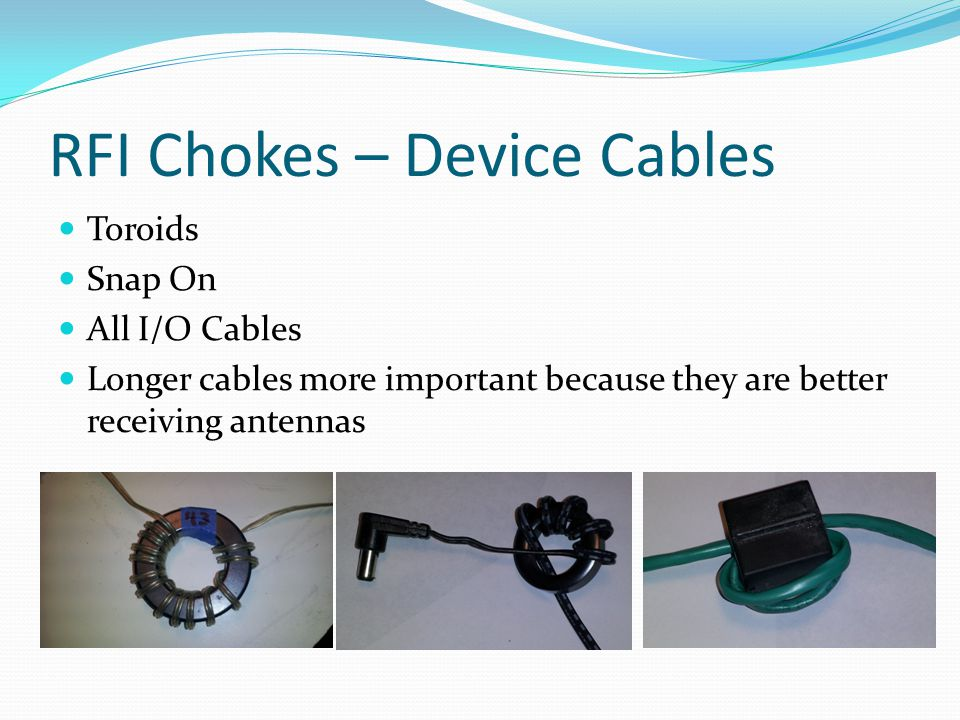 RFI Chokes – Device Cables
