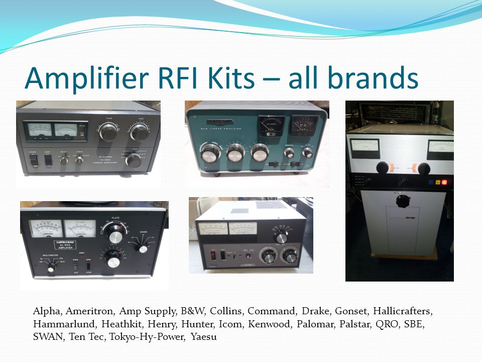 Amplifier RFI Kits – all brands