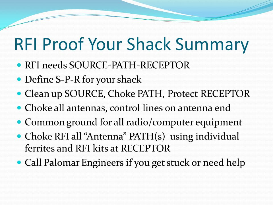 Rfi Proof Your Shack Work More Dx Keep Your Neighbors
