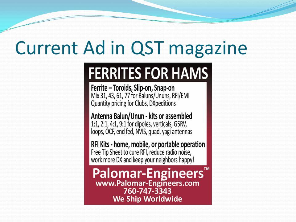 Current Ad in QST magazine
