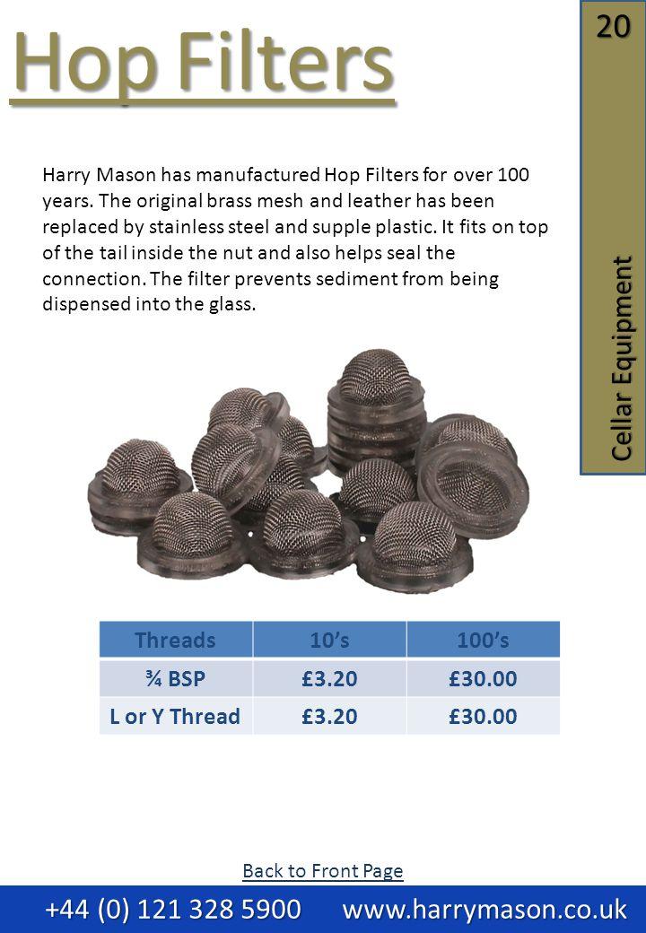 +44 (0) 121 328 5900 www.harrymason.co.uk