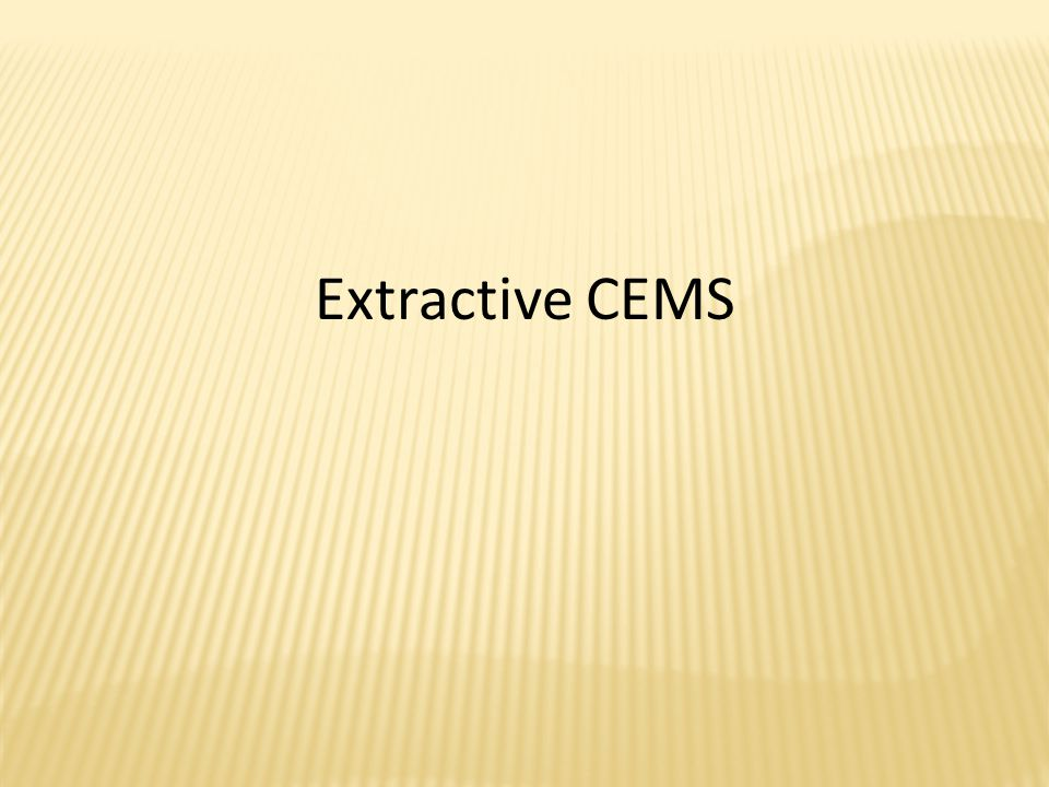 Extractive CEMS