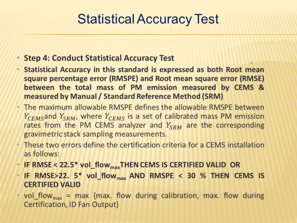 Statistical Accuracy Test