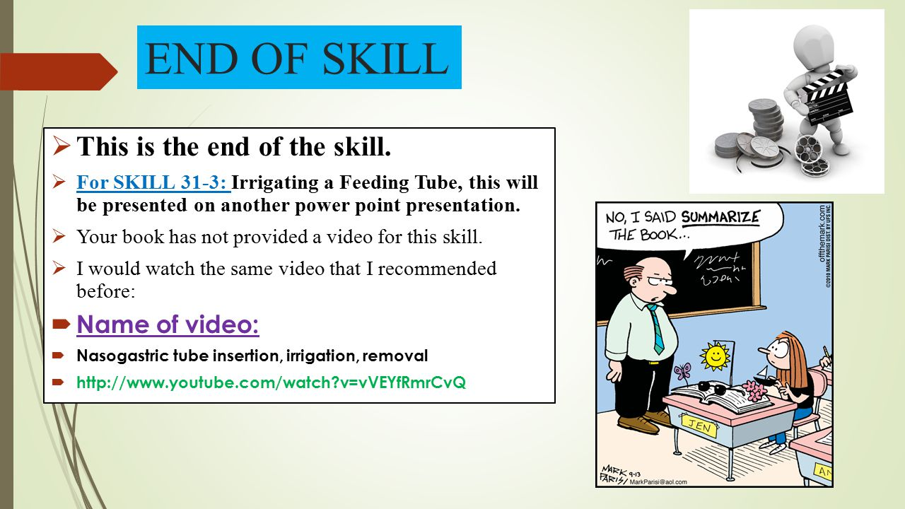 END OF SKILL This is the end of the skill. Name of video: