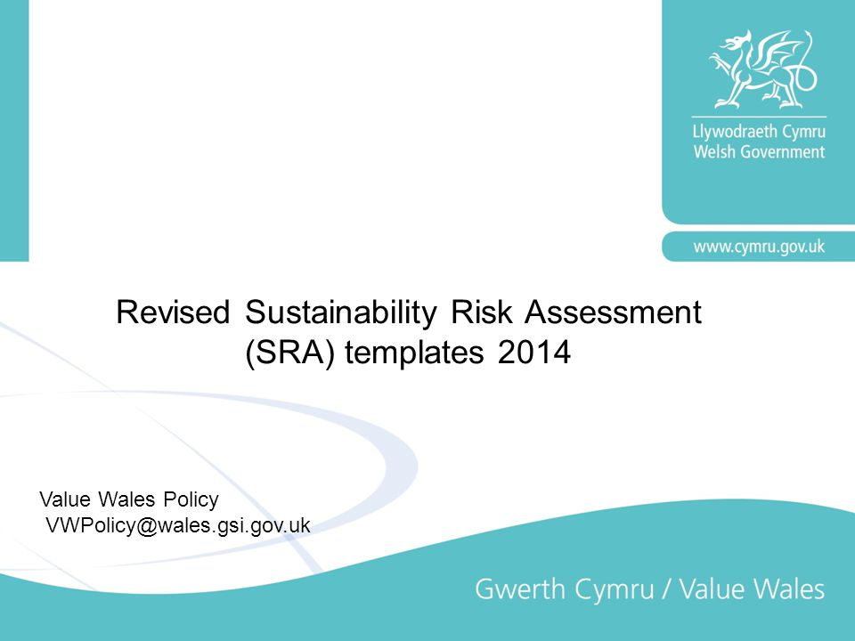 Revised Sustainability Risk Assessment (SRA) templates 2014