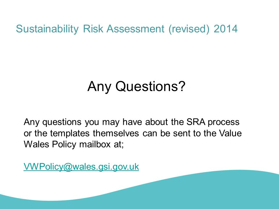 Any Questions Sustainability Risk Assessment (revised) 2014