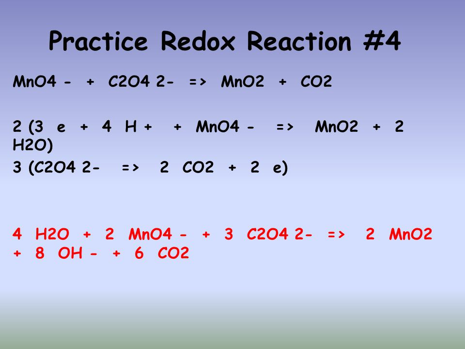 Practice Redox Reaction #4
