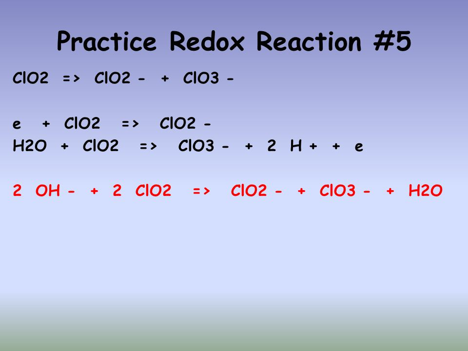 Practice Redox Reaction #5