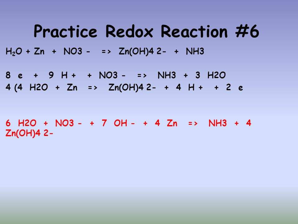 Practice Redox Reaction #6