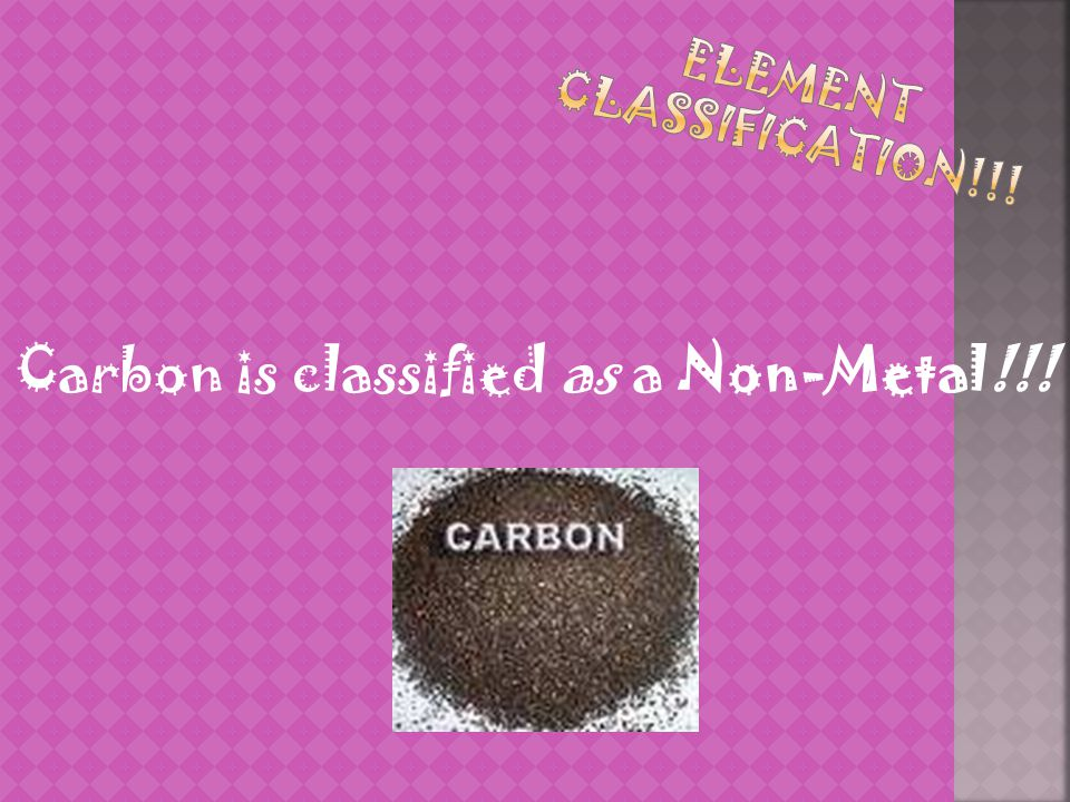 Element Classification!!!