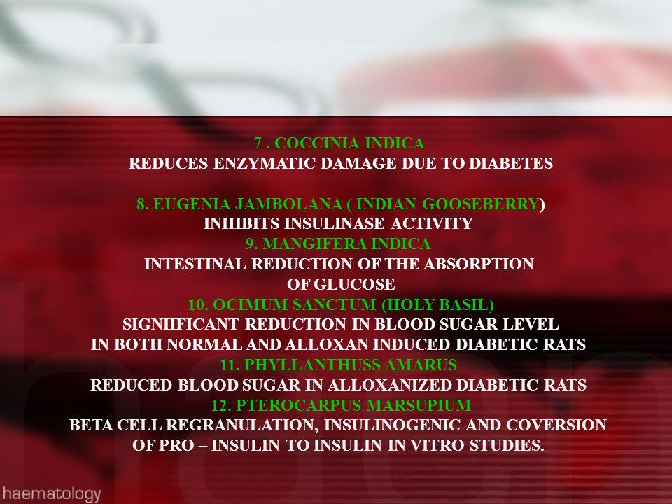 REDUCES ENZYMATIC DAMAGE DUE TO DIABETES