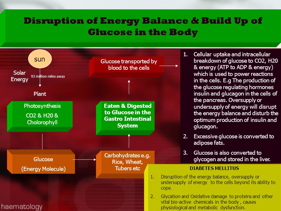 Disruption of Energy Balance & Build Up of Glucose in the Body
