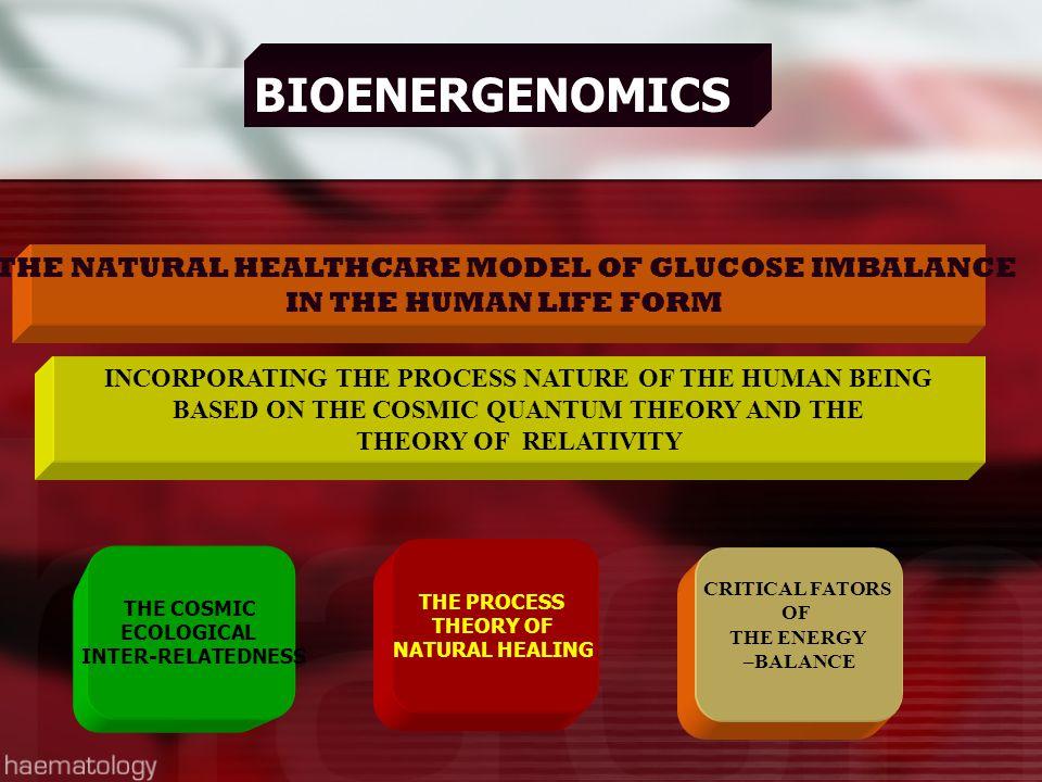 BIOENERGENOMICS THE NATURAL HEALTHCARE MODEL OF GLUCOSE IMBALANCE