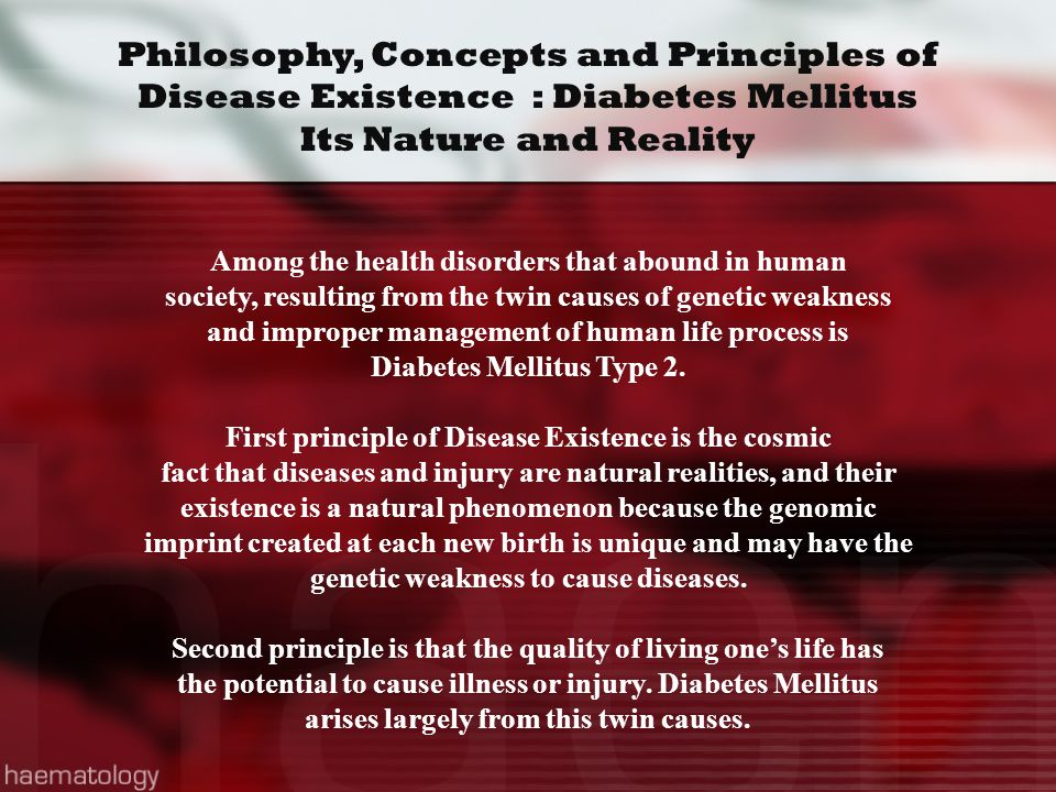 Philosophy, Concepts and Principles of