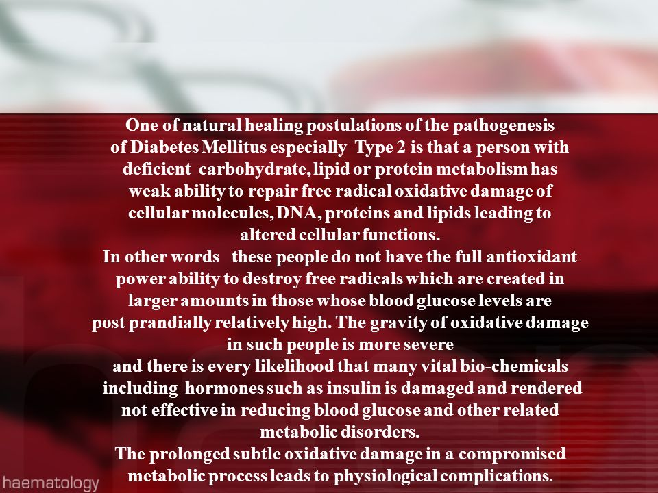 One of natural healing postulations of the pathogenesis
