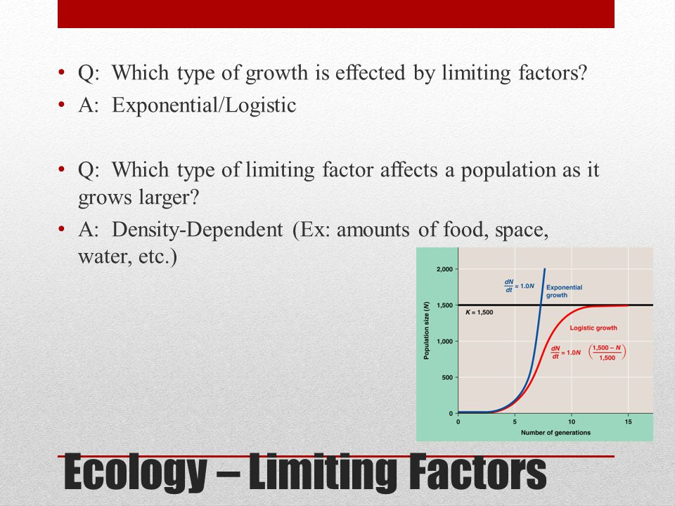 Ecology – Limiting Factors