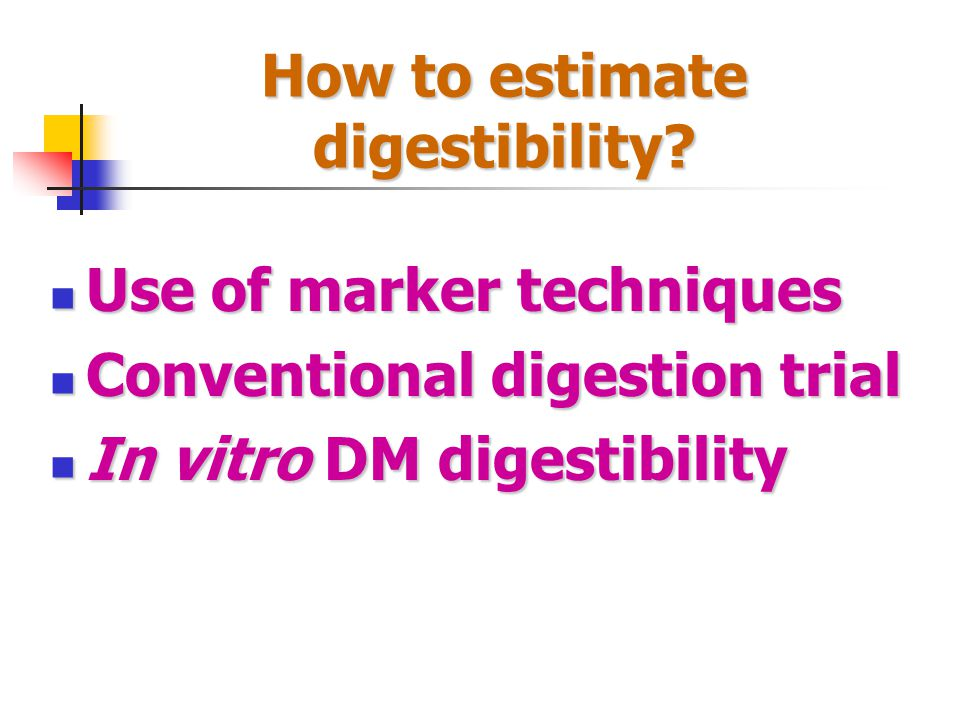 How to estimate digestibility