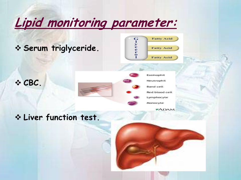 Lipid monitoring parameter: