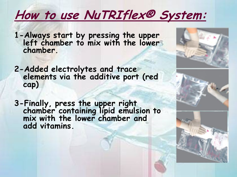 How to use NuTRIflex® System: