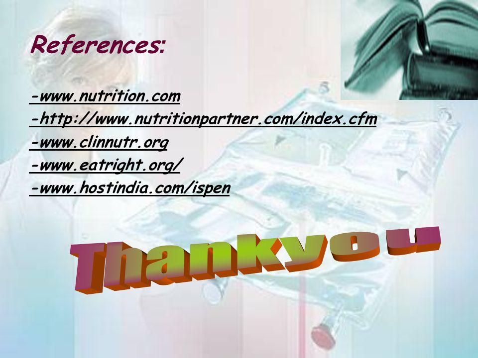 References: Thankyou -www.nutrition.com