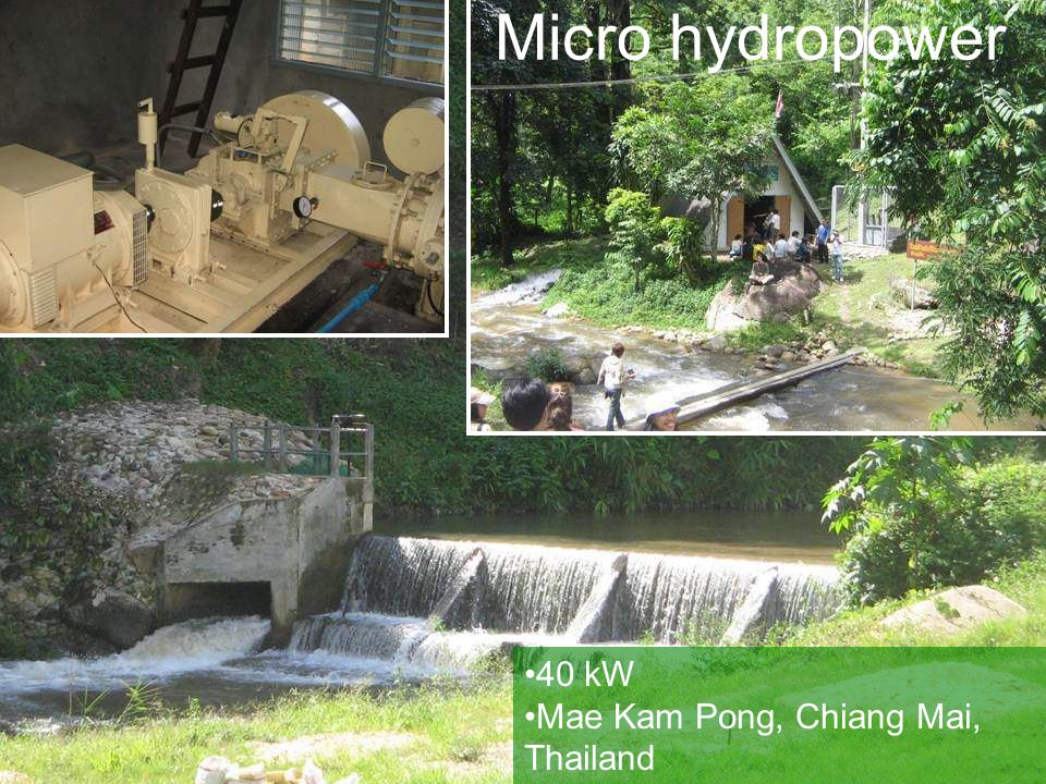 Micro hydropower 40 kW Mae Kam Pong, Chiang Mai, Thailand