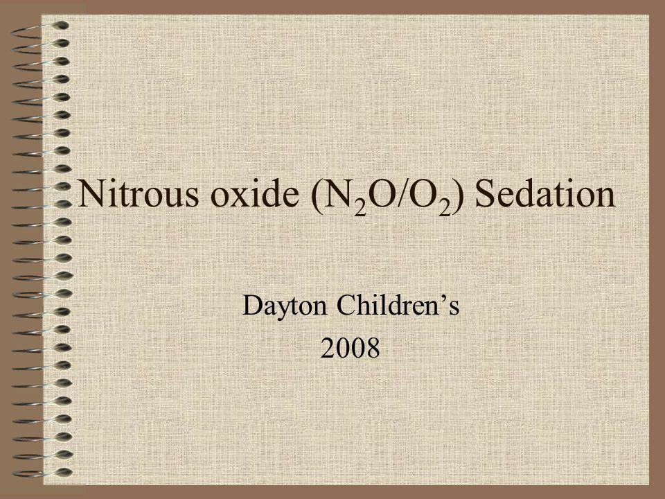 Nitrous oxide (N2O/O2) Sedation