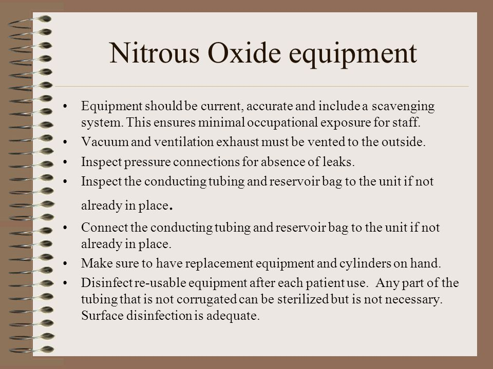 Nitrous Oxide equipment