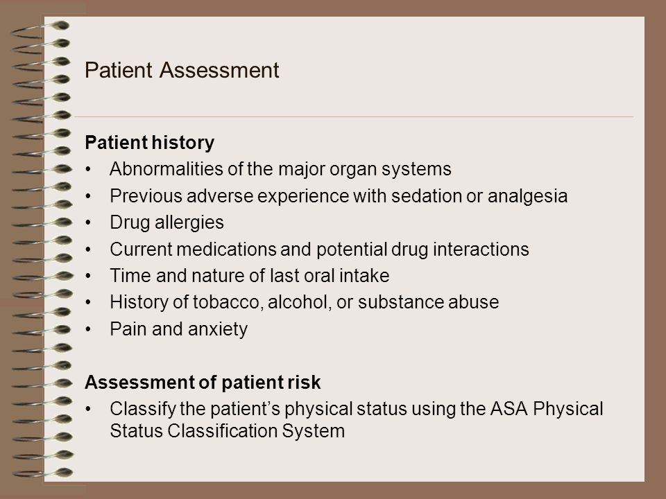 Patient Assessment Patient history