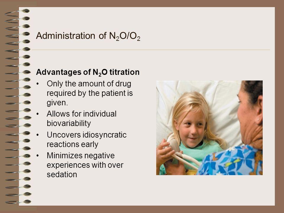 Administration of N2O/O2
