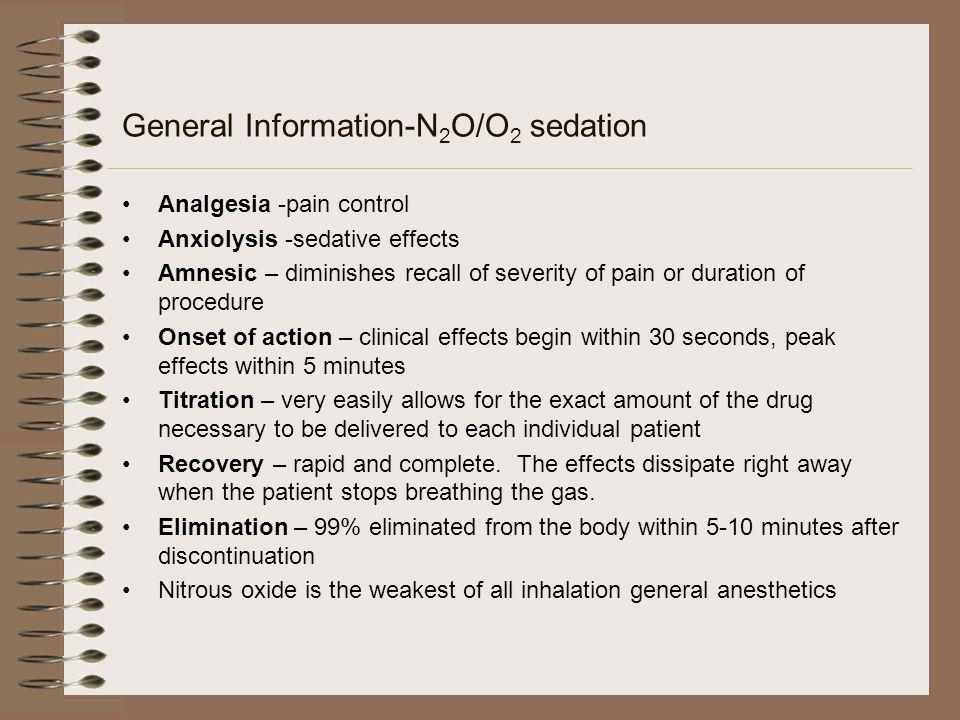 General Information-N2O/O2 sedation
