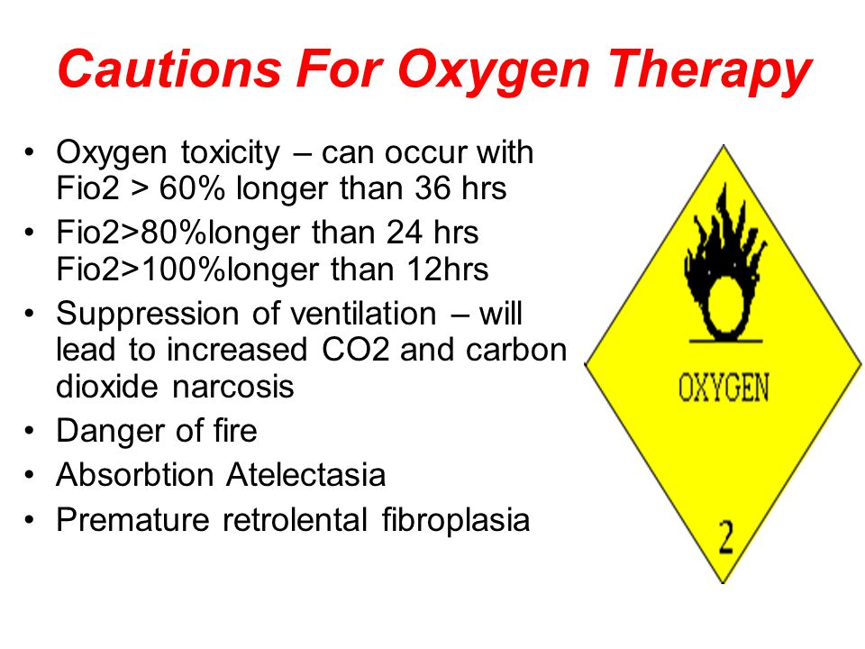Cautions For Oxygen Therapy
