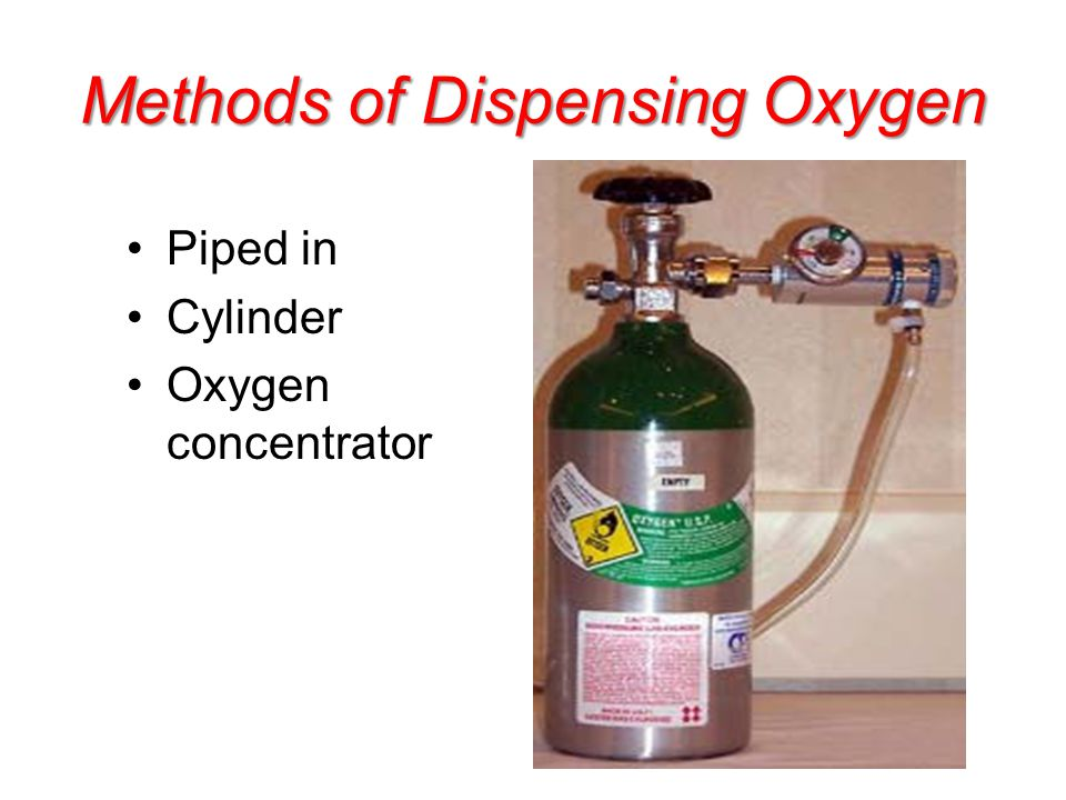 Methods of Dispensing Oxygen