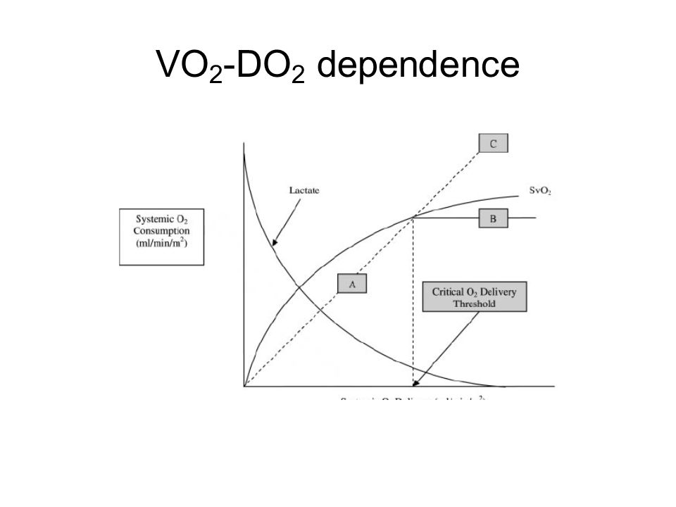 VO2-DO2 dependence