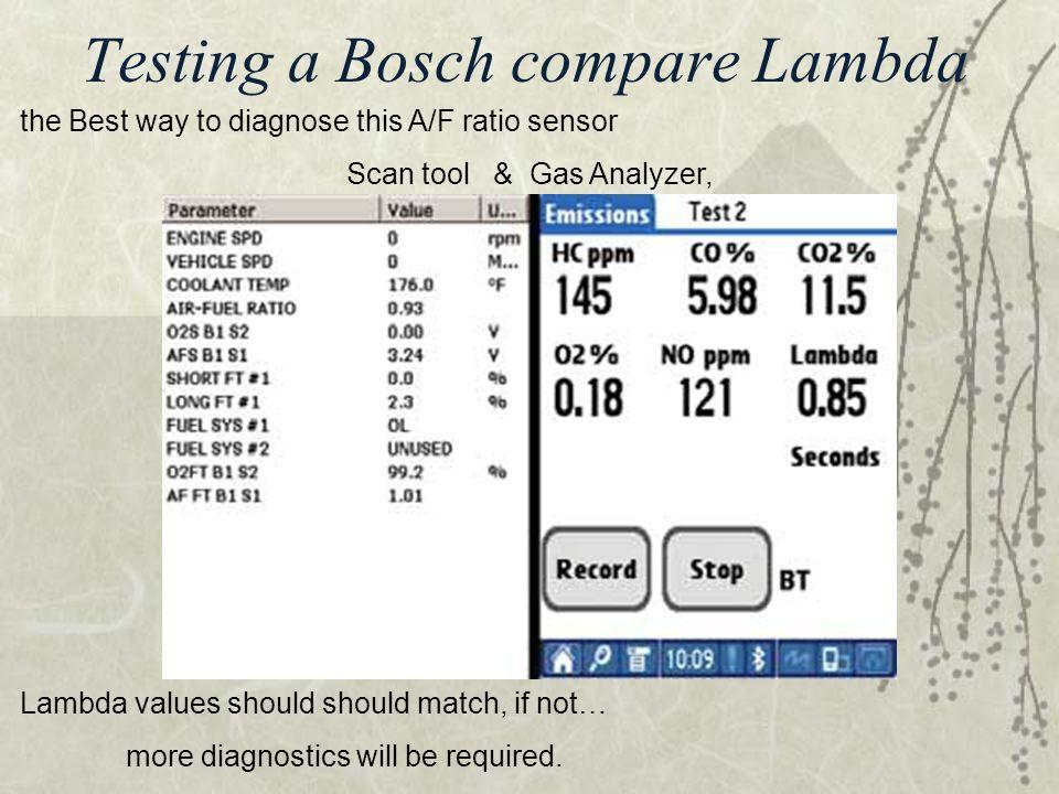 Testing a Bosch compare Lambda