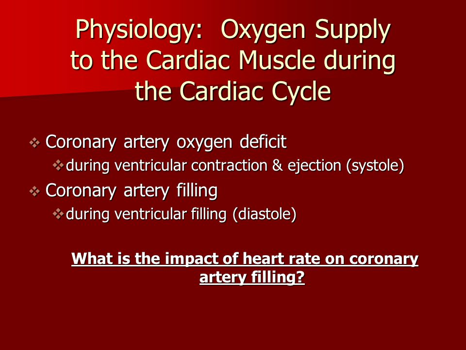 What is the impact of heart rate on coronary artery filling