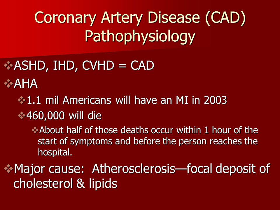 Coronary Artery Disease (CAD) Pathophysiology