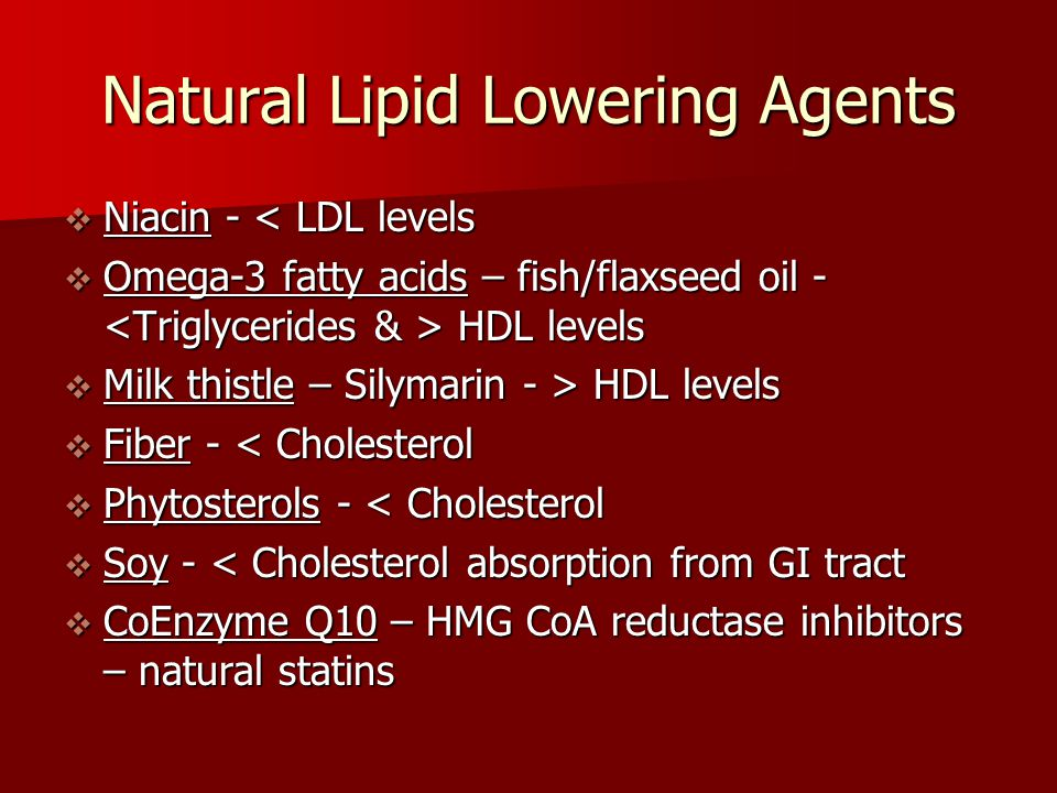 Natural Lipid Lowering Agents