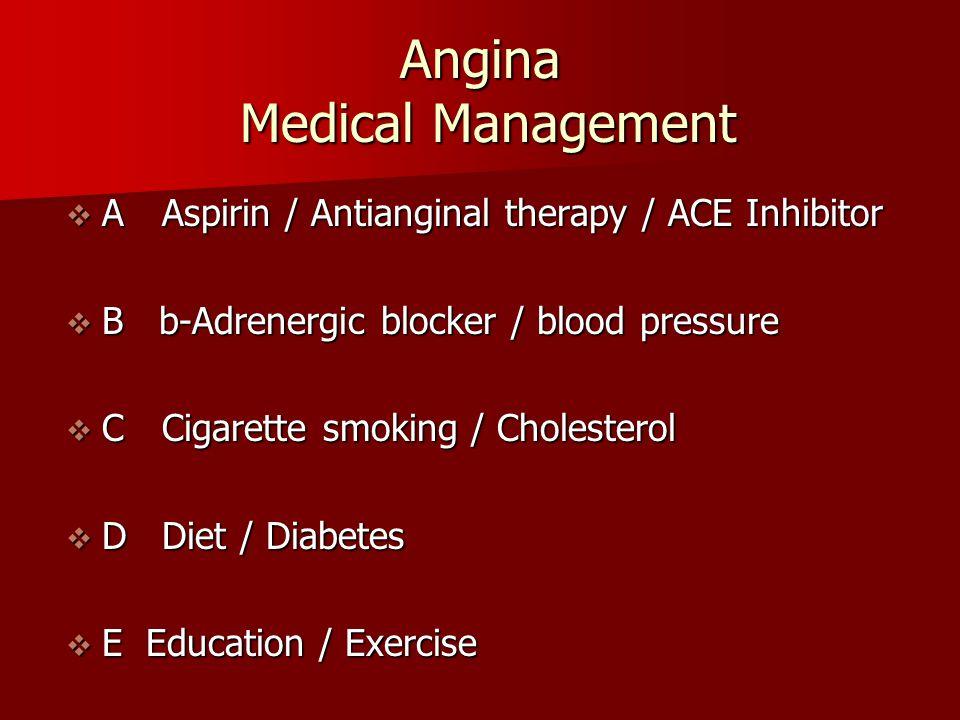 Angina Medical Management