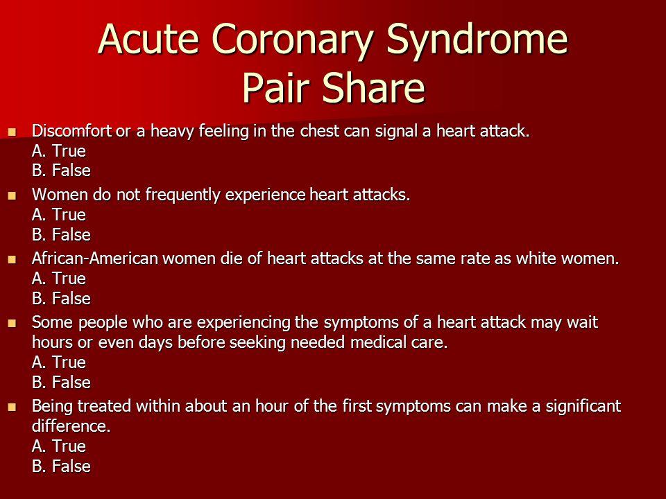 Acute Coronary Syndrome Pair Share