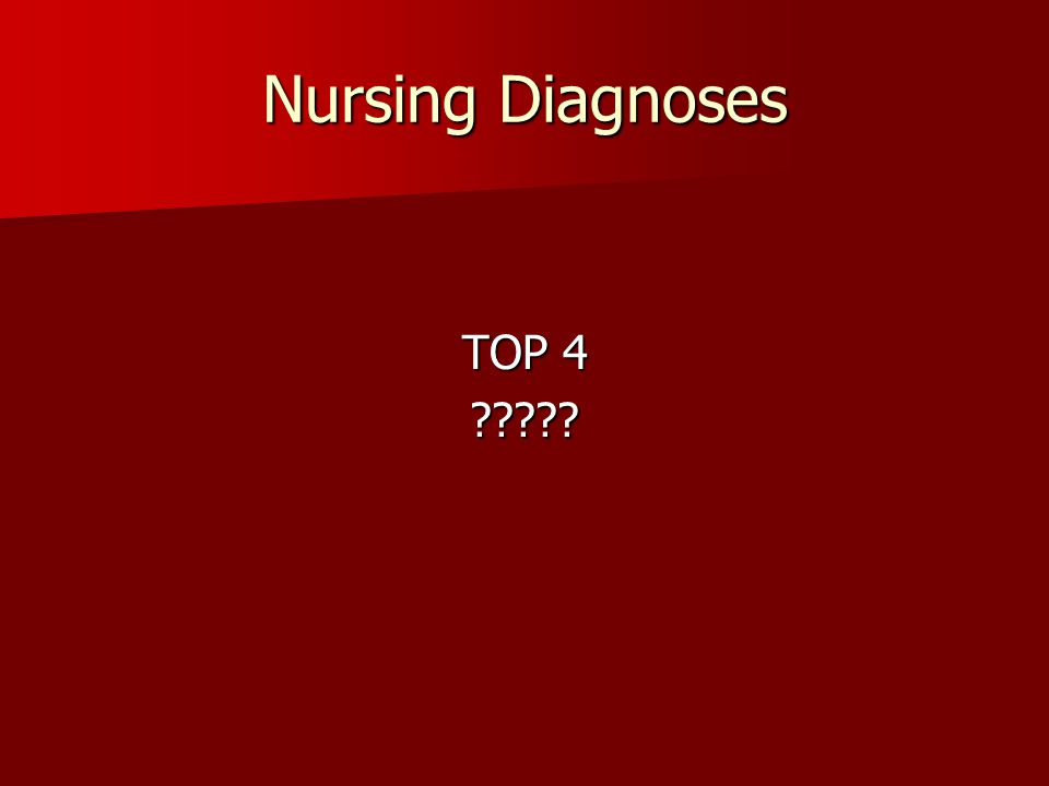 Nursing Diagnoses TOP 4