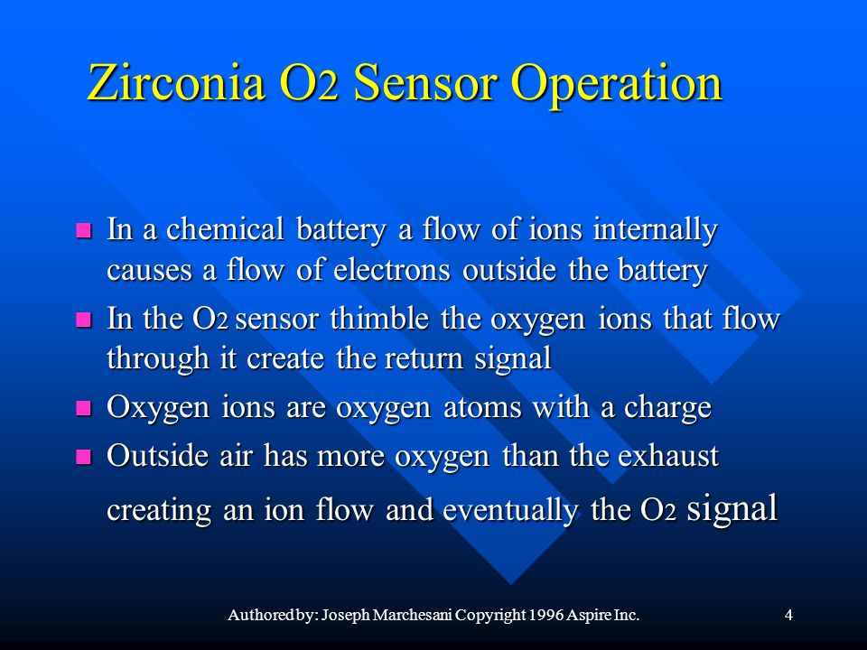 Zirconia O2 Sensor Operation